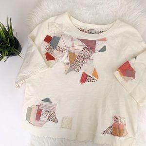 Anthropologie Patchwork shirt Size M